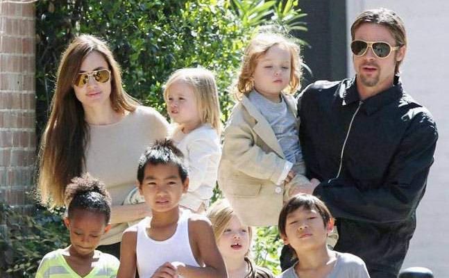 Angelina and Brad Pitt