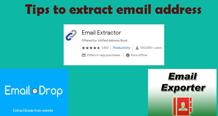 Tips-to-extract-email-address