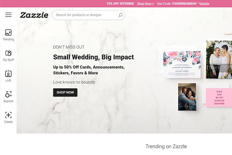 ZAZZLE online printing & design company