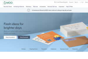 Moo online printing & design company