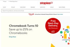 Staples online printing & design company