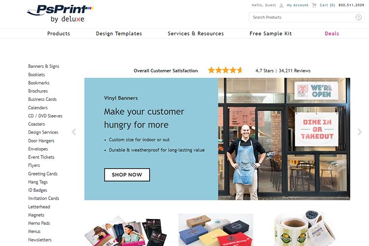 PsPrint online printing & design company