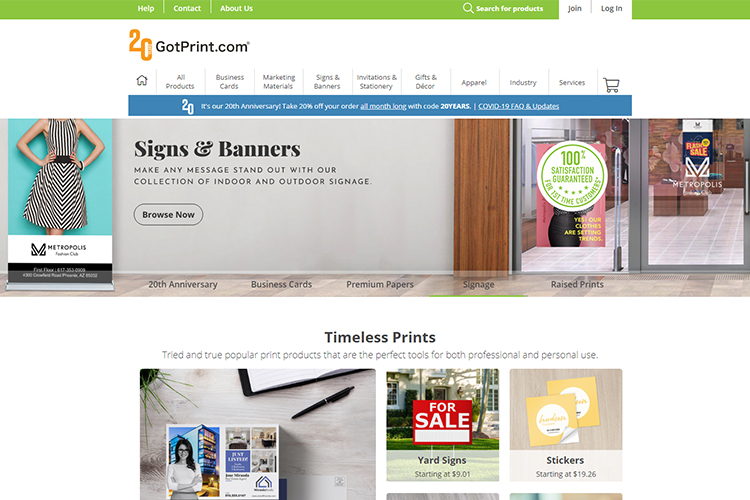 GotPrint online printing & design company