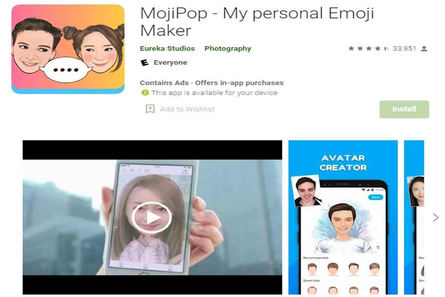 MojiPop-Face-Recognition-App